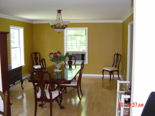 The color is fantastic!  And check out the trim around the ceiling, too!  Classy.